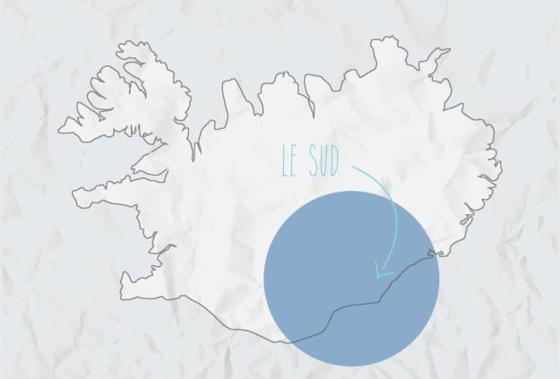 carte sud, Islande ©